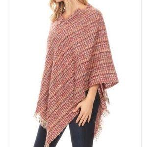 Super Soft Fringe Knit Poncho